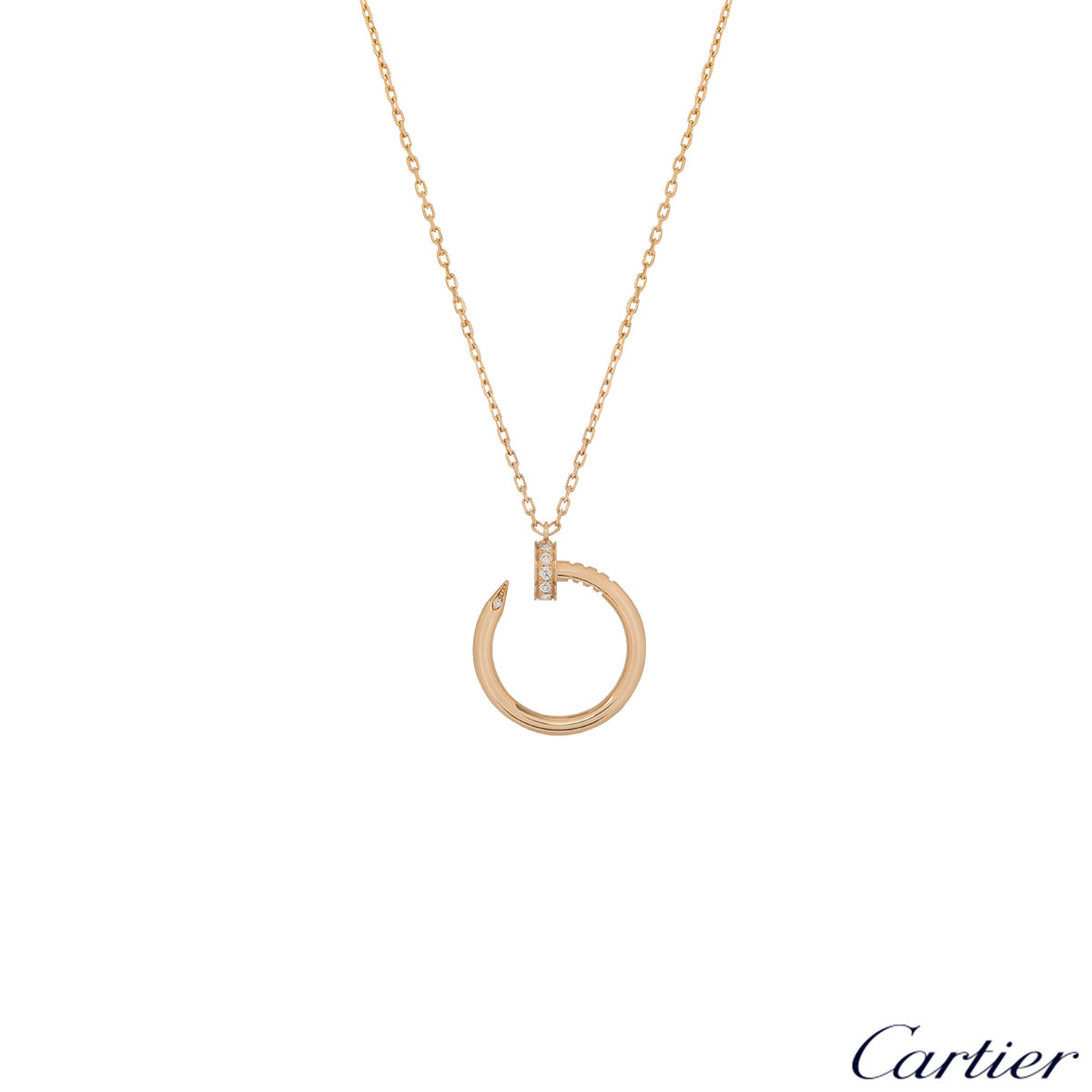 Cartier Yellow Gold Juste Un Clou Diamond Necklace B7224512